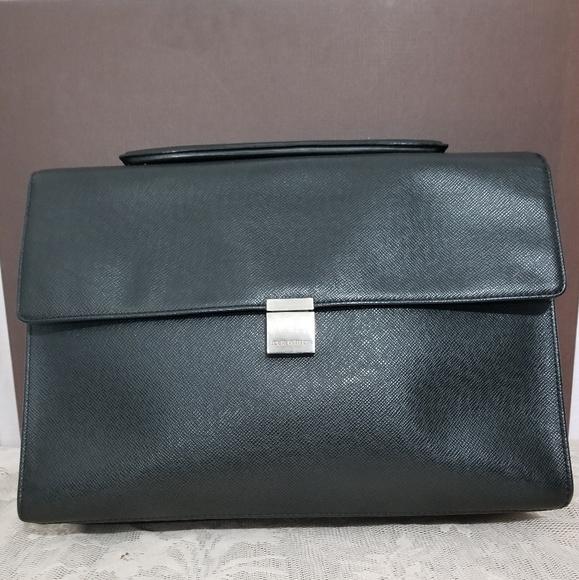 Louis Vuitton Handbags - Louis Vuitton Black Taiga Ponte Document Briefcas